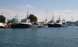 Nessebar hamn, Bulgarien Arkivbilder