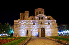 Nessebar old church by night Stock Image