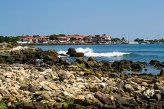 Nessebar old town view. From seaside Stock Photography