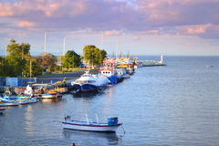 Nessebar shore morning Stock Photo