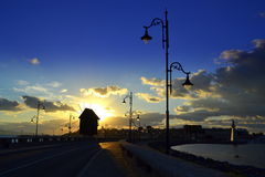 Nessebar sunrise view Royalty Free Stock Photography