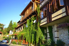 Nessebar traditional houses Royalty Free Stock Images
