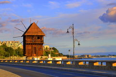 Nessebar-Windmühle Stockbild