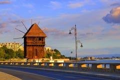 Nessebar windmill Stock Image