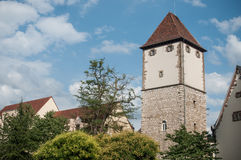 Nessel tower in Mulhouse Royalty Free Stock Photography