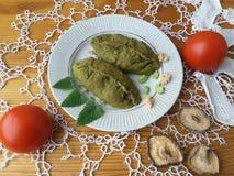Nesselhauchtorten, gekochtes grünes Gebäck mit Gemüse Lizenzfreie Stockbilder