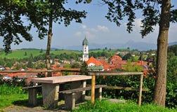 Nesselwang, Allgaeu, Germania Fotografie Stock Libere da Diritti