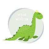Nessie le monstre Illustration plate de vecteur Loch Ness Monster sur le fond blanc Photographie stock
