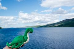 Nessie: O Loch Ness Monster Foto de Stock Royalty Free