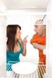 Nessun alimento in frigorifero fotografie stock libere da diritti