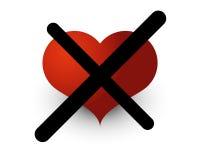 Nessun amore Fotografia Stock Libera da Diritti