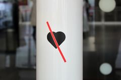 Nessun amore Nessun entri Entri senza amore fotografia stock libera da diritti