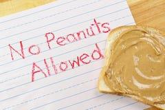 Nessun arachidi permesse Fotografie Stock