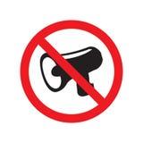 Nessun audio segno dell'icona Nessun'icona di rumore Immagine Stock Libera da Diritti