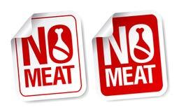Nessun autoadesivi della carne. Fotografia Stock Libera da Diritti