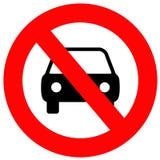 Nessun automobili permesse Fotografie Stock