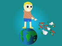 Nessun bambino globale delle droghe Immagini Stock Libere da Diritti