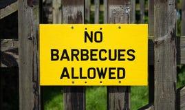 Nessun barbecue conceduti segno Immagini Stock