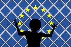 Nessun benvenuto per i migranti Immagine Stock Libera da Diritti