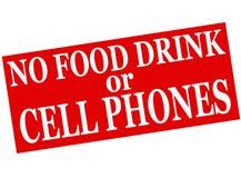 Nessun bevanda o telefoni cellulari dell'alimento illustrazione di stock