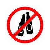 Nessun bevande dell'alcool concedute segno illustrazione vettoriale
