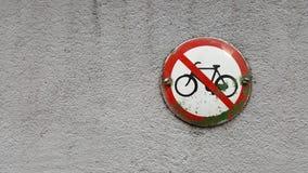 Nessun bici permesse Immagine Stock
