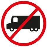 Nessun camion ha permesso il segno, simbolo utile impedire l'accesso dell'onere gravoso, anche per aumentare la sicurezza mentre  fotografie stock libere da diritti