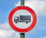 Nessun camion permessi Fotografia Stock