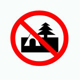 Nessun campeggio Immagine Stock Libera da Diritti