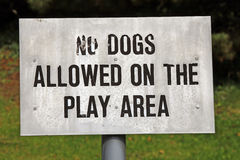 Nessun cani conceduti segno fotografie stock libere da diritti