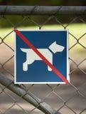 Nessun cani permessi Immagine Stock Libera da Diritti