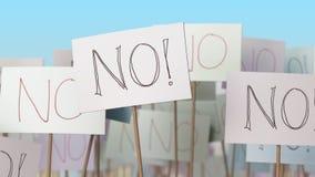 NESSUN cartelli alla dimostrazione della via Rappresentazione concettuale 3d Fotografia Stock