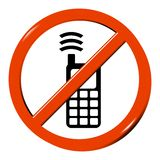 Nessun cellulare Immagine Stock