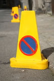 Nessun coni di parcheggio Fotografie Stock Libere da Diritti