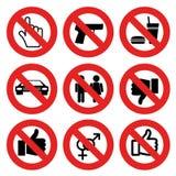 Nessun contrassegni permessi Fotografie Stock Libere da Diritti