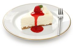 Nessun cuocia la torta di formaggio Immagini Stock Libere da Diritti