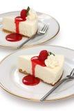 Nessun cuocia la torta di formaggio immagini stock