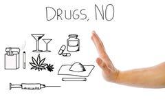 Nessun droghe immagine stock