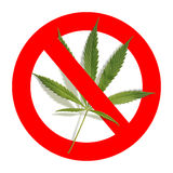 Nessun droghe - segno di proibizione Fotografia Stock Libera da Diritti