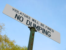 Nessun dumping Fotografia Stock