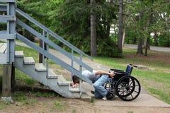 Nessun'entrata di handicap immagini stock