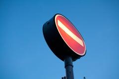 Nessun'entrata per traffico automobilistico immagini stock