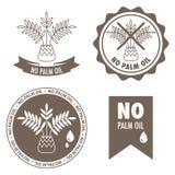 Nessun etichette dell'olio di palma Fotografia Stock Libera da Diritti