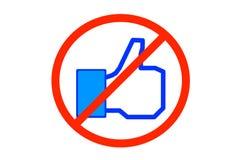 Nessun Facebook Fotografia Stock