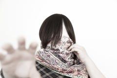 Nessun fermo della donna del fronte voi Fotografie Stock Libere da Diritti