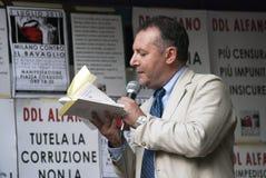 Nessun giorno di Bavaglio - Piero Colaprico Immagine Stock Libera da Diritti
