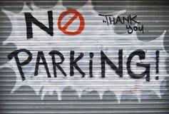 Nessun graffiti di parcheggio Fotografia Stock Libera da Diritti