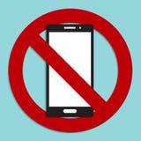 Nessun'icona del segno del telefono Immagini Stock Libere da Diritti