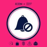 Nessun'icona della campana Segno di proibizione Arresti il simbolo Immagine Stock Libera da Diritti
