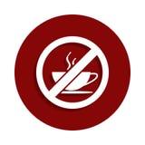 Nessun'icona della tazza di caffè nello stile del distintivo Uno dell'icona della raccolta di declino può essere usato per UI, UX illustrazione di stock